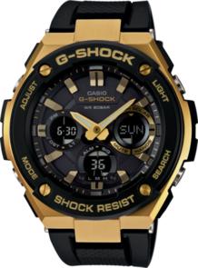 CASIO G-SHOCK G-STEEL ANALOGUE/DIGITAL BLACK/GOLD SOLAR MENS WATCH GSTS100G-1A