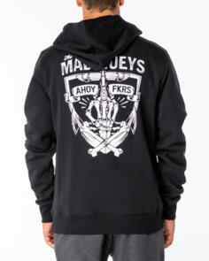 THE MAD HUEYS GIVE A FK PULLOVER HOOD BLACK
