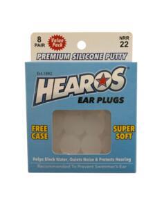 HEAROS MULTI-USE SILICONE EAR PLUGS - 8 PAIRS