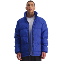HUFFER MENS TRACK PUFFER JACKET ELECTRIC BLUE