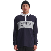 HUFFER VAULT LS RUGBY POLO NAVY