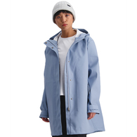 HUFFER WOMENS 3L STAYDRY JACKET POWDER BLUE