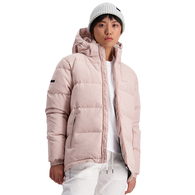 HUFFER WOMENS CLASSIC DOWN JACKET DUSKY PINK