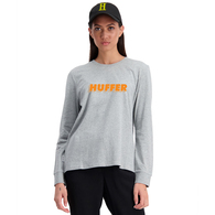 HUFFER WOMENS LS BELLA TEE/STEP UP GREY MARLE