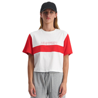 HUFFER WOMENS VANCITY BELLA TEE WHITE/RED