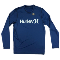 HURLEY 2019 ONE AND ONLY SURF SHIRT LONG SLEEVE RASH VEST BLUE FORCE