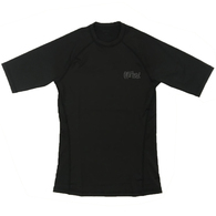 HURLEY 2019 PRO LIGHT TOP SHORT SLEEVE RASH VEST BLACK