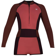 HURLEY 2019 WOMENS ADVANTAGE PLUS MADE4FUN SPRING SUIT BURGUNDY ASH