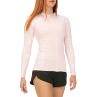 HURLEY 2019 WOMENS DOMINO ZIP LONG SLEEVE RASH VEST ECHO PINK