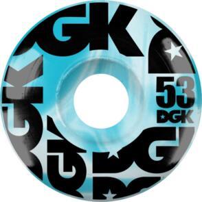 DGK SWIRL FORMULA WHEELS BLUE - 53MM