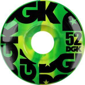 DGK SWIRL FORMULA WHEELS GREEN - 52MM
