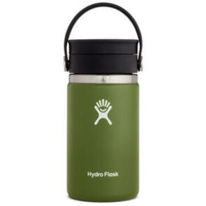 HYDRO FLASK WIDE MOUTH INSULATED COFFEE FLASK 354ML OLIVE
