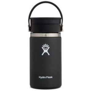 HYDRO FLASK WIDE MOUTH INSULATED COFFEE FLASK 354ML BLACK