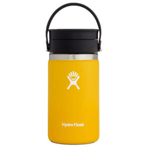 HYDRO FLASK WIDE MOUTH INSULATED COFFEE FLASK, 354ML SUNFLOWER