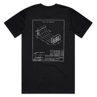 HYPER RIDE DECONSTRUCTED SERIES VERT TEE BLACK WHITE