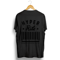 HYPER RIDE LOGO TEE BLACK WITH BLACK PRINT