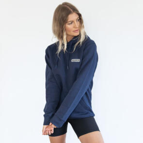 HYPER RIDE UNISEX BADGE HOODIE NAVY