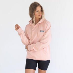 HYPER RIDE UNISEX BADGE HOODIE DUSTY ROSE