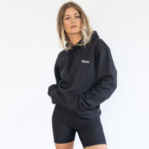 HYPER RIDE UNISEX BADGE HOODIE PITCH BLACK