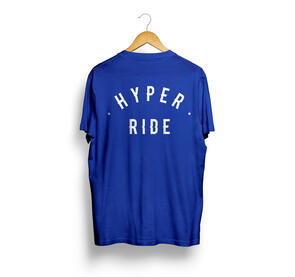 HYPER RIDE BASE TEE ROYAL BLUE WITH WHITE PRINT