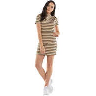 ILABB WOMENS EAST DRESS MULTI STRIPE