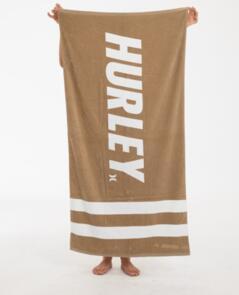 HURLEY FASTLANE 2 STRIPE TOWEL DESERT DUST