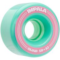 IMPALA SIDEWALK SKATES 4 PACK WHEELS AQUA 58MM