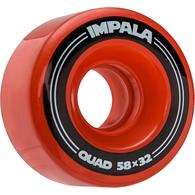 IMPALA SIDEWALK SKATES 4 PACK WHEELS RED 58MM