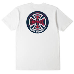 INDEPENDENT 78 T/C TEE WHITE