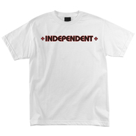 INDEPENDENT BAR/CROSS TEE WHITE