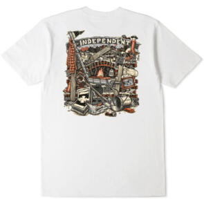 INDEPENDENT CRUST TEE WHITE