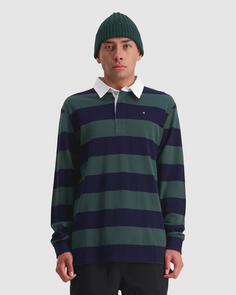 HUFFER JACKSON LS RUGBY POLO NAVY