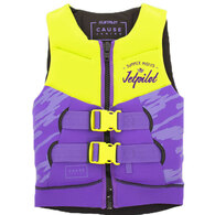 JETPILOT 2019 YOUTH THE CAUSE F/E KIDS NEO VEST YELLOW PURPLE 12-14 (40-60KG)