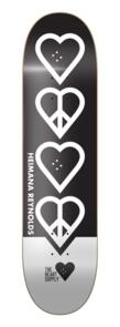 "THE HEART SUPPLY HEIMANA REYNOLDS PEACE DECK BLACK 8.25"""""