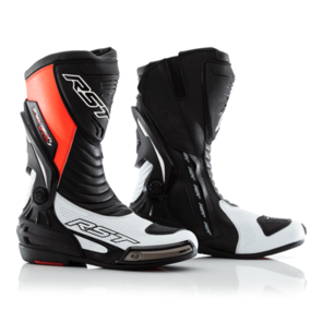 RST TRACTECH EVO-3 SPORT CE BOOT [WHITE/FLO RED]