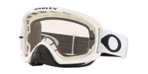 OAKLEY O FRAME 2.0 PRO - MATTE WHITE MX GOGGLES WITH CLEAR LENS
