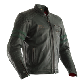RST IOM TT HILLBERRY CE LEATHER JACKET [GREEN]