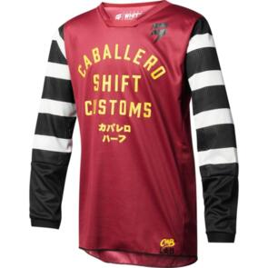 SHIFT YOUTH WHIT3 CABALLERO X LAB JERSEY [DARK RED]