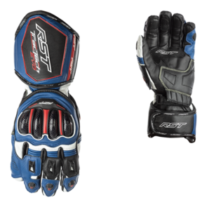 RST TRACTECH EVO CE LEATHER GLOVE [BLACK/BLUE]