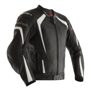 RST R-SPORT CE LEATHER JACKET [BLACK/WHITE]