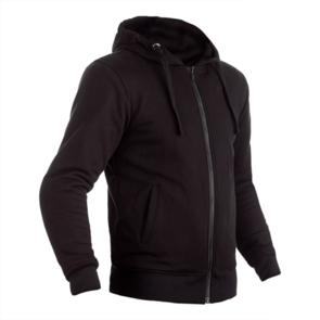 RST REINFORCED LINED ZIP THROUGH CE TEXTILE HOODIE [BLACK]