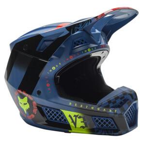 FOX RACING 2021 V3 RS MAWLR HELMET CE [DUSTY BLUE]