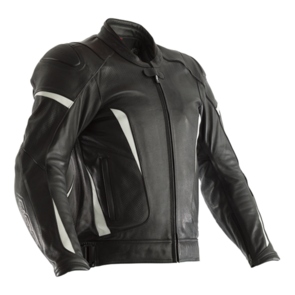 RST GT CE LEATHER JACKET [BLACK/WHITE]