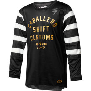 SHIFT YOUTH WHIT3 CABALLERO X LAB JERSEY [BLACK]