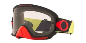 OAKLEY O FRAME 2.0 PRO - TUFF BLOCKS YELLOW/RED MX GOGGLES WITH CLEAR LENS