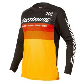 FASTHOUSE 2021 YOUTH ALLOY KILO LONG SLEEVE JERSEY BLACK/YELLOW