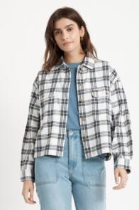 BRIXTON WOMENS BOWERY LW L/S FLANNEL OFF WHITE
