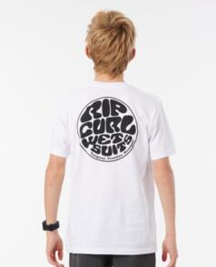 RIP CURL YOUTH WETSUIT ICON TEE WHITE