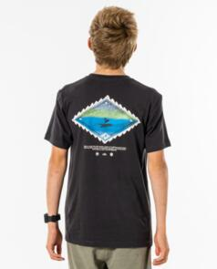 RIP CURL YOUTH SWC CURREN TEE WASHED BLACK