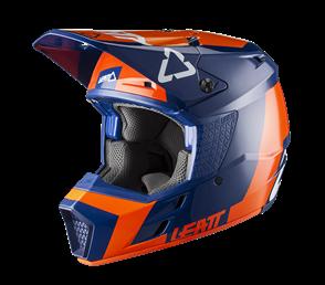 LEATT MOTO LEATT 2020 GPX 3.5 V20.2 HELMET (JUNIOR ORANGE/BLUE)